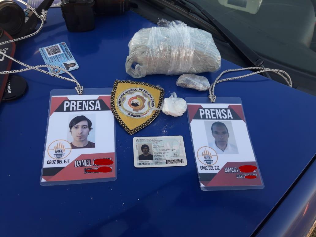 La Cumbre : Se hacían pasar por periodista y traficaban droga