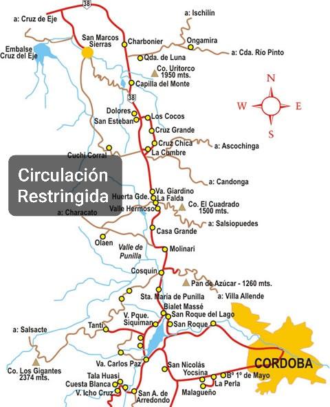 Requisitos para circular en Punilla por las próximas 48hs.