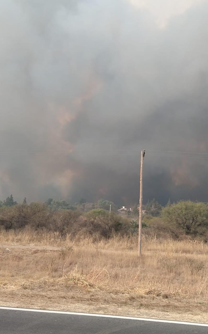 El incendio en las sierras de Córdoba está «descontrolado»