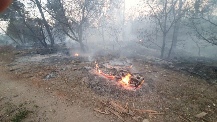 Histórico incendio en Córdoba: se quemaron al menos 80 casas